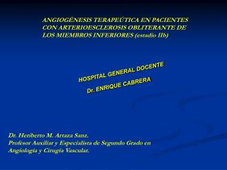 HOSPITAL GENERAL DOCENTE Dr. ENRIQUE CABRERA