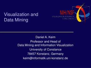 Visualization and  Data Mining