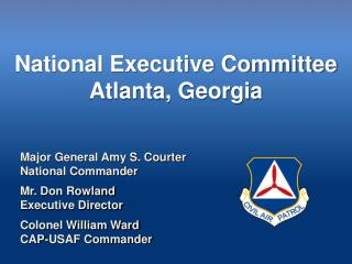 National Executive Committee  Atlanta, Georgia