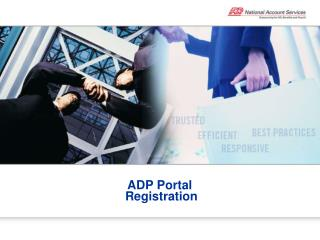 ADP Portal  Registration