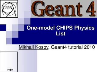 One-model CHIPS Physics List