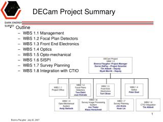 DECam Project Summary