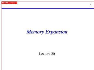 Memory Expansion