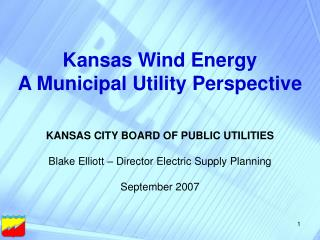 Kansas Wind Energy A Municipal Utility Perspective