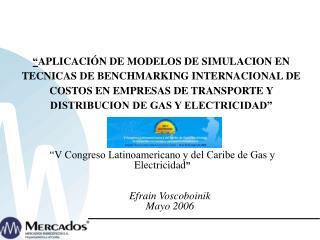 """""""V Congreso Latinoamericano y del Caribe de Gas y Electricidad """""""