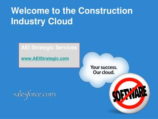 Welcome to the Construction Industry Cloud