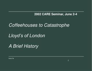 2002 CARE Seminar, June 2-4