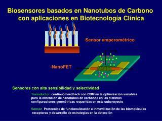 Biosensores basados en Nanotubos de Carbono  con aplicaciones en Biotecnolog ía Clínica