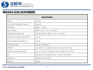 MIDAS-II GAS SCRUBBER