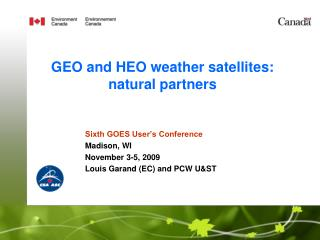 GEO and HEO weather satellites: natural partners