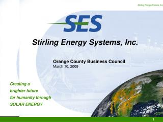 Stirling Energy Systems, Inc.