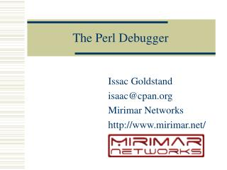The Perl Debugger