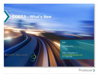 COBRA—What's New
