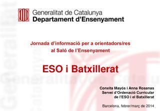 Jornada d'informació per a orientadors/res al Saló de l'Ensenyament ESO i Batxillerat
