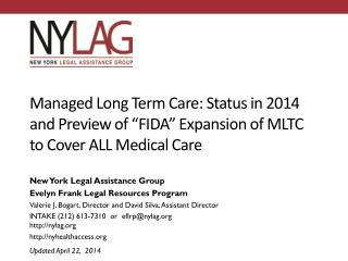 New York Legal Assistance Group Evelyn Frank Legal Resources Program