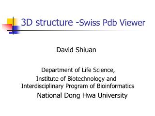 3D structure - Swiss Pdb Viewer