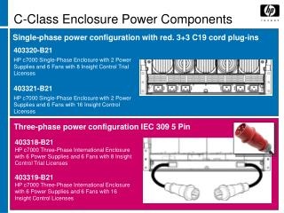 C-Class Enclosure Power Components