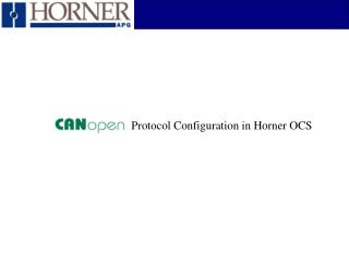 Protocol Configuration in Horner OCS
