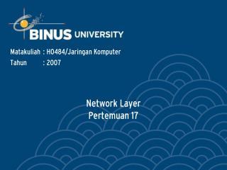 Network Layer Pertemuan 17