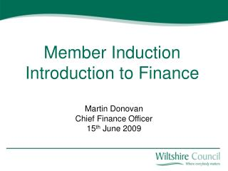Member Induction Introduction to Finance