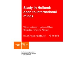 Study in Holland:  open to international minds