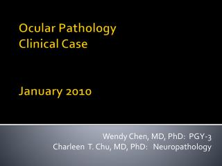 Ocular Pathology Clinical Case January 2010
