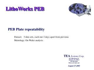 PEB Plate repeatability