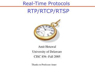 RTP/RTCP/RTSP