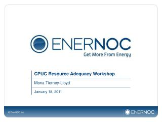 CPUC Resource Adequacy Workshop