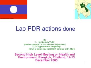 Lao PDR actions  done