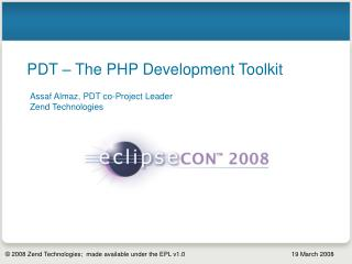 PDT – The PHP Development Toolkit