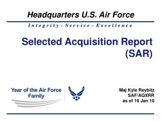 Selected Acquisition Report (SAR)