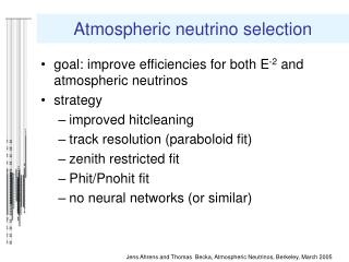 Atmospheric neutrino selection