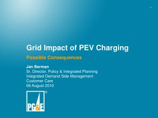 Grid Impact of PEV Charging