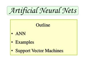 Artificial Neural Nets