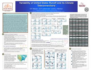 Variability of United States Runoff and its Climate Teleconnections