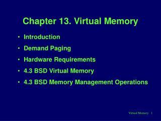Chapter 13. Virtual Memory