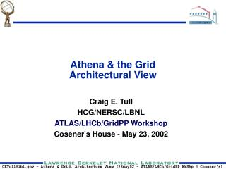 Athena & the Grid Architectural View