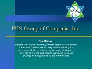 PFN Group of Companies Inc.