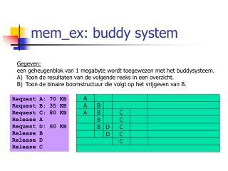 mem_ex: buddy system