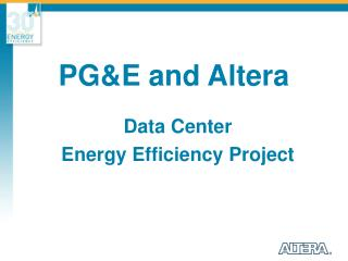 PG&E and Altera