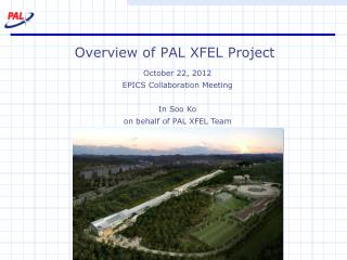 Overview of PAL XFEL Project