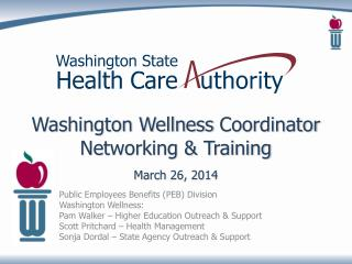 Washington Wellness  Coordinator  Networking & Training March  26, 2014