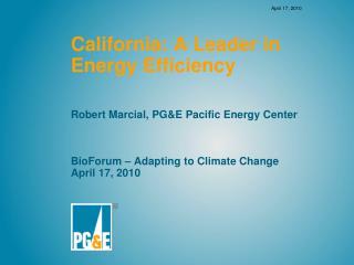California: A Leader in Energy Efficiency