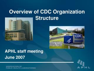 Overview of CDC Organization Structure