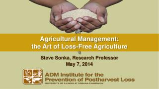 Agricultural Management: the Art of Loss-Free Agriculture