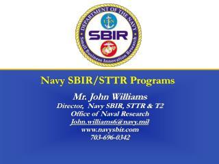 Navy SBIR/STTR Programs