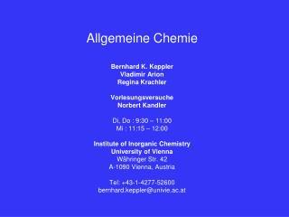 Allgemeine Chemie