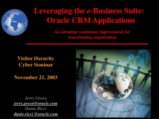 Security in the Oracle E-Business Suite