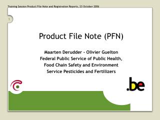 Product File Note (PFN)